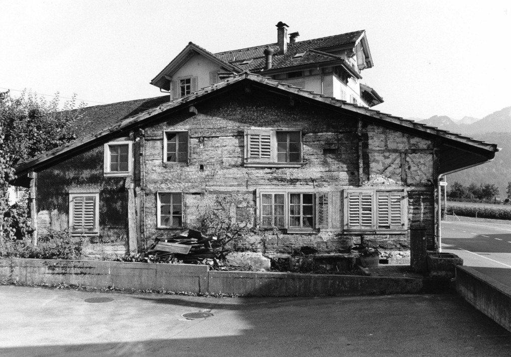 Das Haus Nideröst von 1176. (Bild: Staatsarchiv Schwyz)