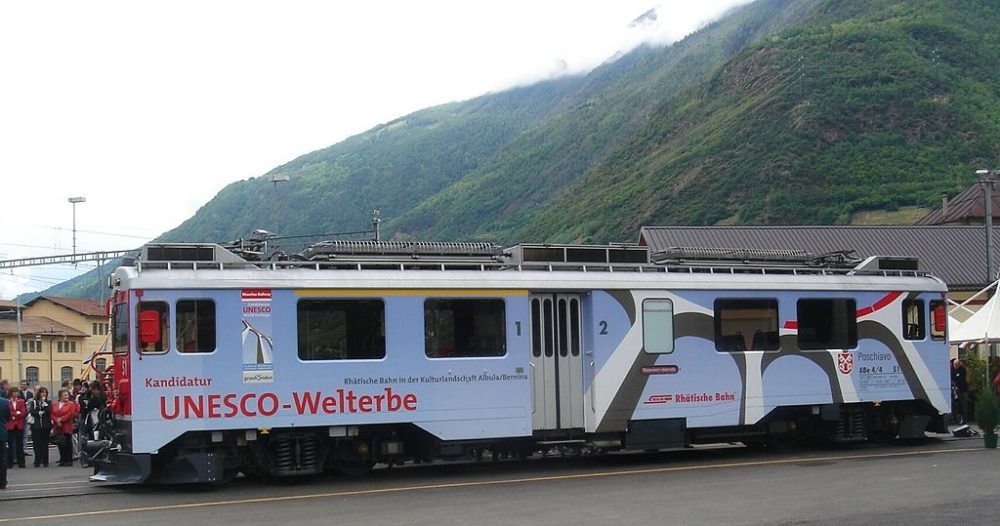 Die Rhätische Bahn - UNESCO Weltkulturerbe (Bild: Markus Giger, Wikimedia, CC)