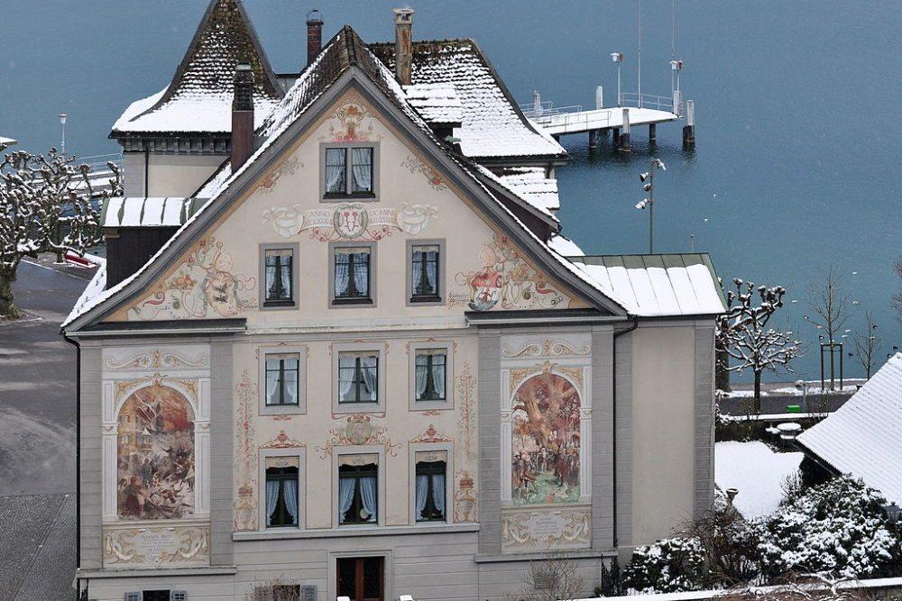 Haus Curtiplatz 1 in Rapperswil, St. Gallen (Bild: Ronald zh, Wikimedia, CC)