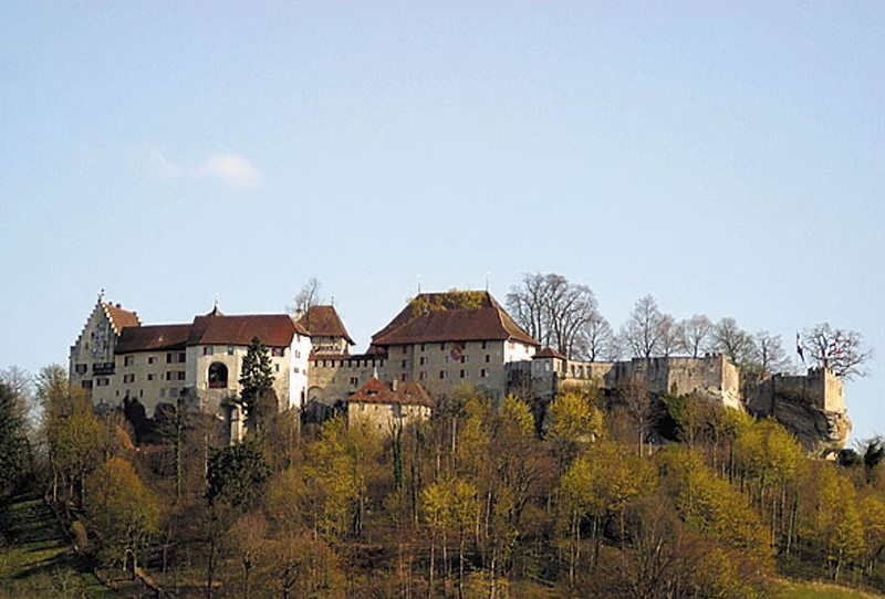 Schloss Lenzburg, Ansicht von Norden (Bild: Roland Zumbühl, Wikimedia, CC)