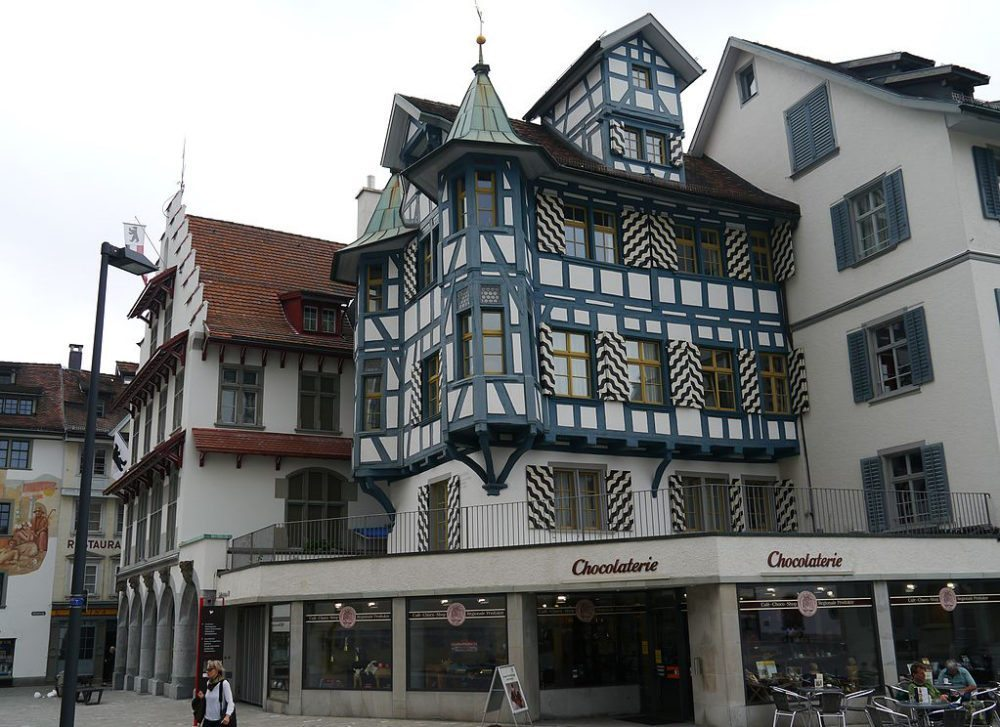 Klosterbezirk in St. Gallen, Kanton St. Gallen (Bild: Zairon, Wikimedia, CC)