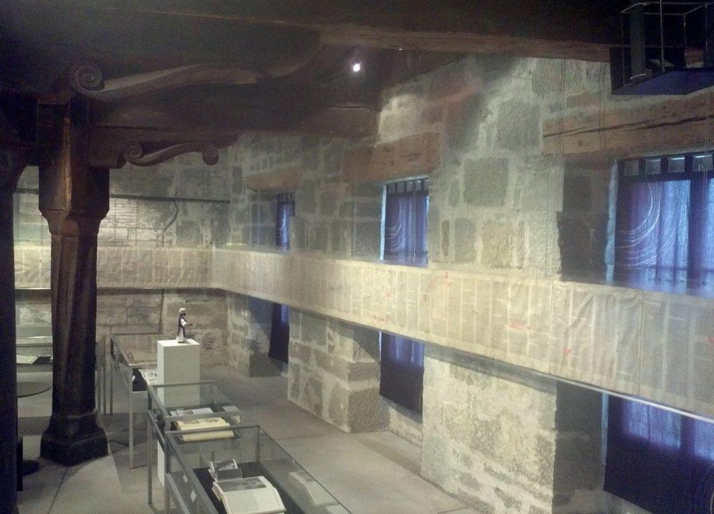 Deckenbalken im Gutenberg Museum, Arbeit von Hans Geiler, 16. Jahrhundert (Bild: Lantus, Wikimedia, CC)