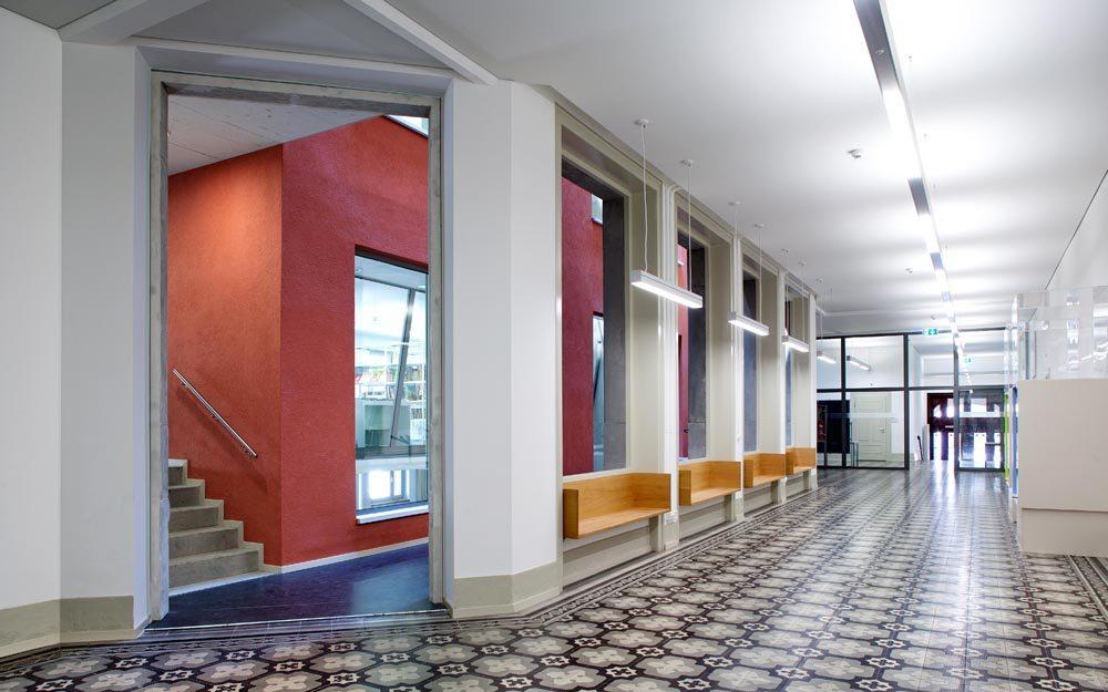 Schulhaus Maihof, Erdgeschoss (Bild: © Kantonale Denkmalpflege Luzern, Theres Bütler)