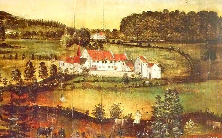 Ritterhaus Bubikon – Wandbild von Stöffi Kuhn dem Jüngeren, um 1770 (Bild: Stöffi Kuhn, Wikimedia, CC)