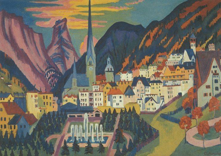 Ernst Ludwig Kirchner: Davos im Sommer, 1925, Kirchner Museum Davos (Bild: Ernst Ludwig Kirchner, Wikimedia)