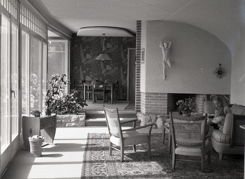 Das Haus in Muri fotografiert 1954, im Jahr der Fertigstellung. (Bild: Willi Althaus)
