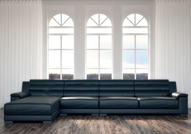 Ein stillvolles Sofa ist ein Blickfang im Raum. (Bild. © imagophotodesign - Fotolia.com)