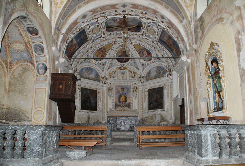 Kirche San Pellegrino – eine einsame Kirche aus dem Jahre 1345  (Bild: Adrian Michael, Wikimedia, GNU)
