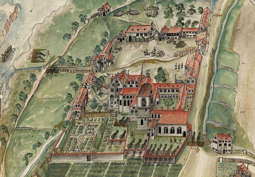 Kloster Kreuzlingen im Dreissigjährigen Krieg, 1633 (Wikimedia)