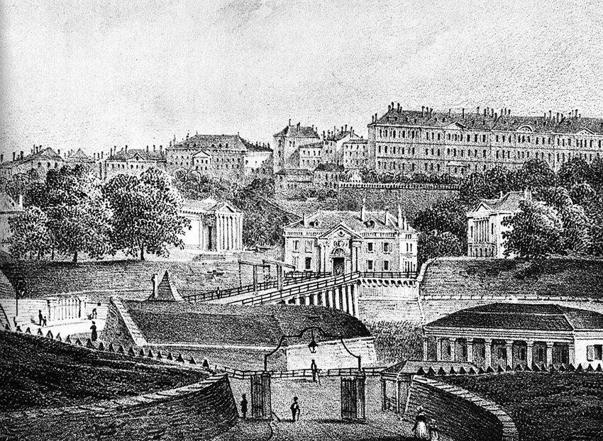 PorteNeuve in Genf um 1825 (Bild: Livre Genève - Images du passé - Images du présent, de Pierre Bouffard, Wikimedia)