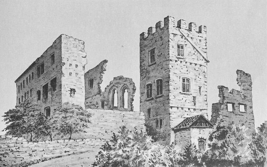Schloss Brandis in Maienfeld um 1880 (Bild: F. Küpfer, Wikimedia)