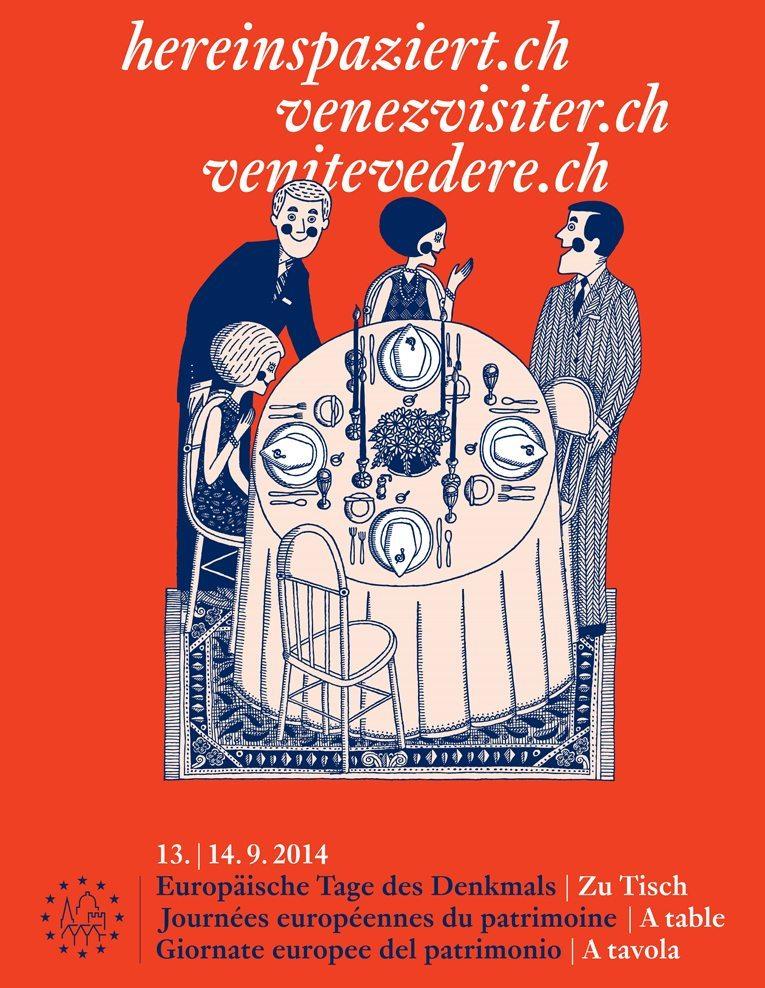 Kampagnenbild Schweizer Tage des Denkmals 2014 (© Nationale Informationsstelle zum Kulturerbe NIKE)