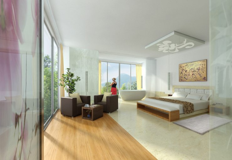 Ein schickes Bett macht Wohnträume wahr. (Bild: © visualtektur. - Fotolia.com)