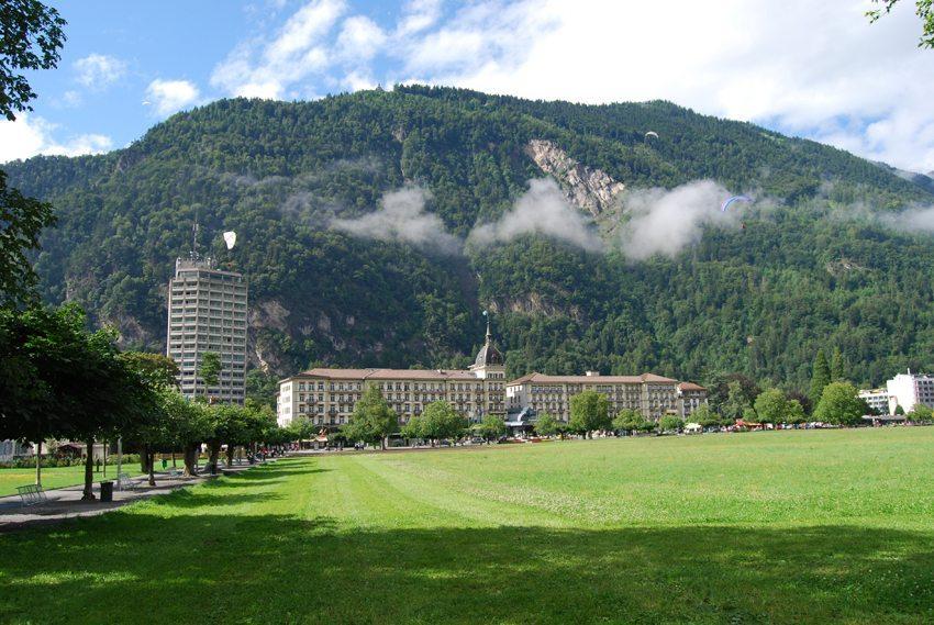 Hotel Victoria-Jungfrau in Interlaken, Kanton Bern (Bild: Dietrich Michael Weidmann, Wikimedia, GNU)
