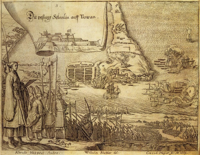 "Herports Blick auf ""Die vestung Selandia auff Teowan"" (Bild:  Wikimedia)"
