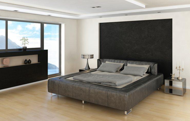 modernes Bett lädt zum erholen ein. (Bild: © PlusONE - shutterstock.com)