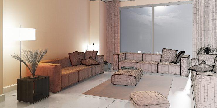 Eine Polstergruppe kombiniert zu einem modernen Wohnstil (Bild: © arsdigital - fotolia.com)