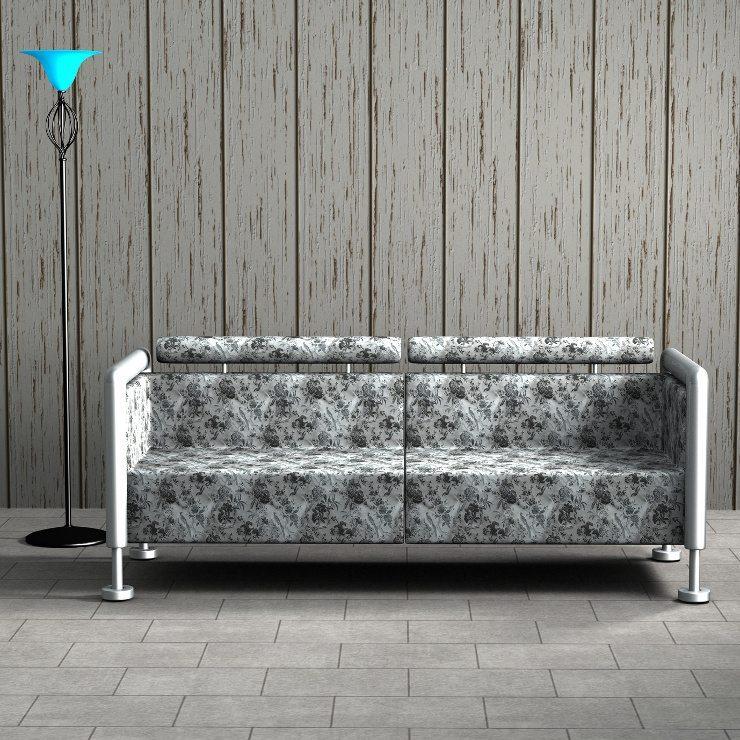 Ein Sofa steht im Zentrum der Wohnung. (Bild: © martina - fotolia.com)