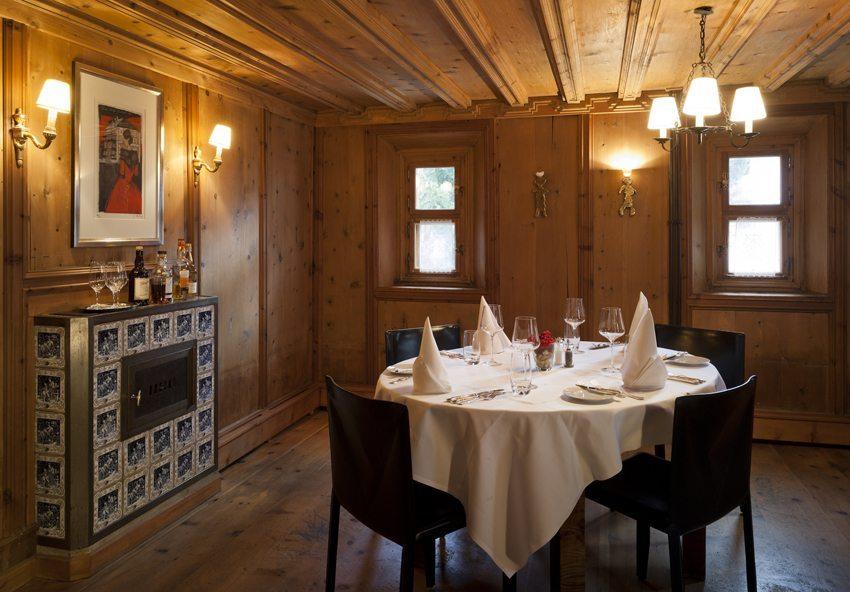 Restaurant im Hotel Chesa Salis (Bild: Daniel Martinek)