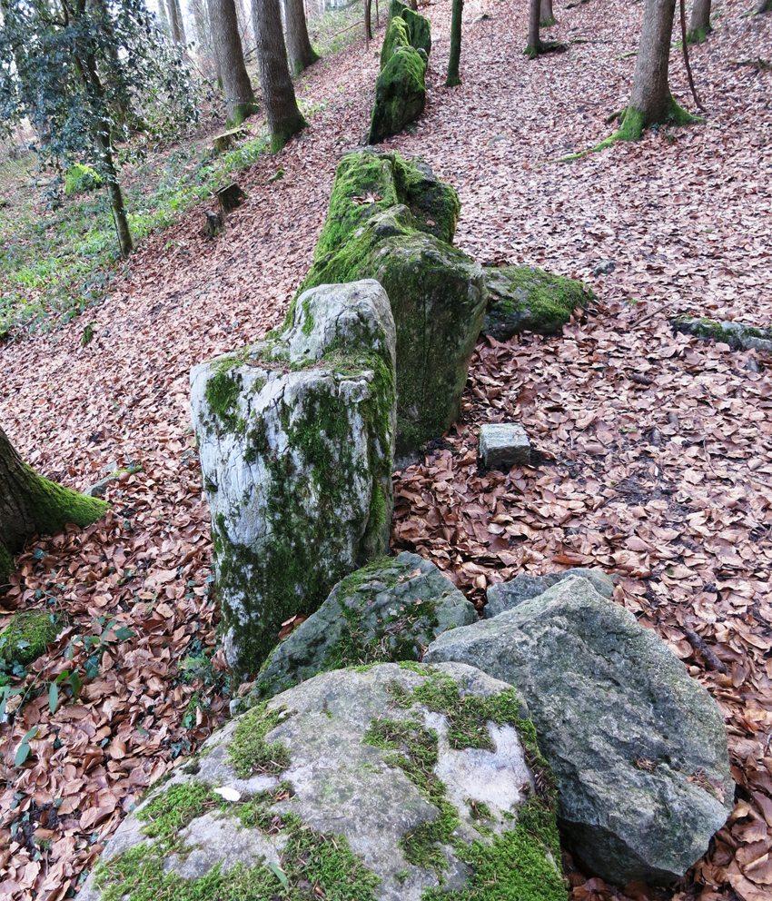"Megalithmauer ""Stonehege im Säuliamt"" (Bild: Paebi, Wikimedia, CC)"