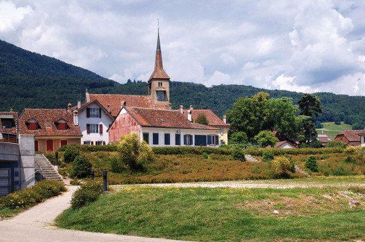 Saint-Jean-Baptiste – die mittelalterliche Kirche von Concise. (Bild: Pierre Bona, Wikimedia, GNU)