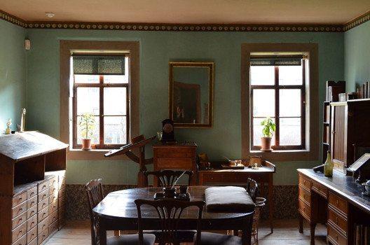 Goethes Arbeitszimmer, Goethe-Haus, Weimar (Bild: Tanzania, Wikimedia, CC)