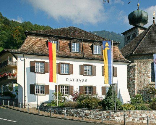 """Rathaus von Triesenberg, Liechtenstein (Bild: © Presse- und Informationsamt, Vaduz / <a title=""""creativecommons.org - Creative Commons"""" href=""""https://creativecommons.org/licenses/by-sa/3.0/deed.de"""" target=""""_blank"""">CC</a>)"""