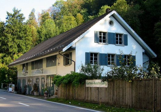 Nähmaschinen-Museum am Pilgersteg in Dürnten – Aussenansicht. (Bild: Tino Jaun, Wikimedia, CC)