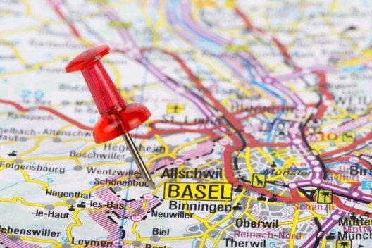 Basel aus der Vogelschau. (Bild: © Aleksandar Grozdanovski - shutterstock.com)