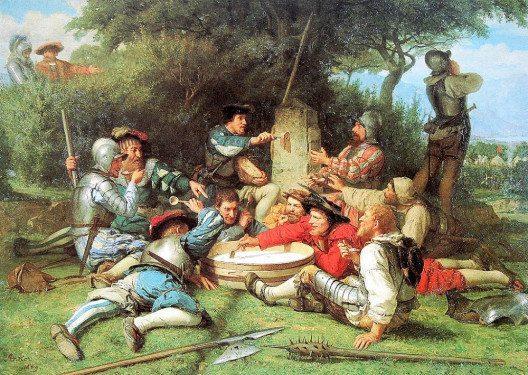 Die Kappeler Milchsuppe, Gemälde von Albert Anker, 1869. (Bild: Albrecht Anker, Wikimedia, public domain)