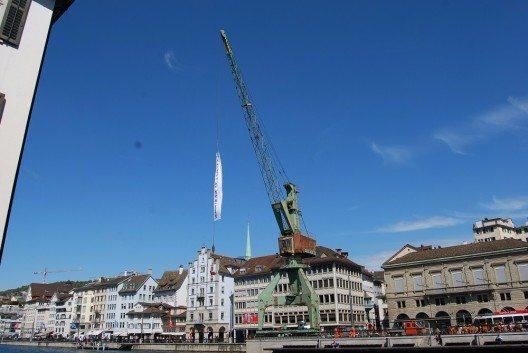 Der Zürcher Hafenkran (Bild: © Dietrich Michael Weidmann, Wikimedia, GNU)