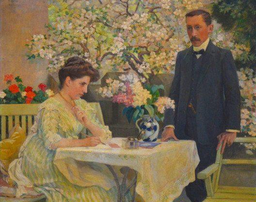 Adèle und Rudolf von Tavel-Stettler, Porträt von Wilhelm Balmer (1909) (Bild: Manuel Kehrli, Wikimedia, CC)