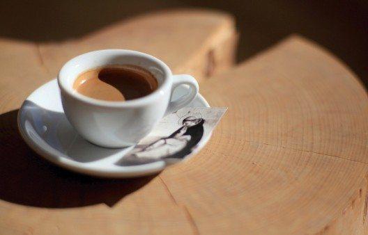 Kaffeetasse mit Abbildung des hl. Dominikus. Foto: Caroline Schärli.