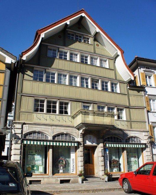 Das Appenzeller Brauchtumsmuseum. (Bild: © Schofför, Wikimedia, CC BY-SA 2.5 CH)