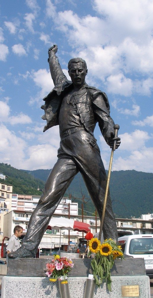 Freddy Mercury Statue in Montreux. (Bild: © Wikimedia, CC BY-SA 3.0)