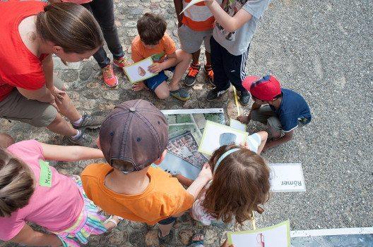 in Basel können Kinder Archäologie hautnah erleben. (Bild: Kanton Basel-Stadt)