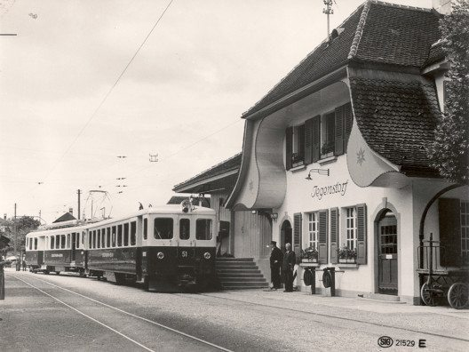 Bahnhof Jegenstorf, 1950 (Bild: © Regionalverkehr Bern-Solothurn RBS)