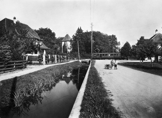 Bahnhof Jegenstorf, ca. 1925 (Bild: © Regionalverkehr Bern-Solothurn RBS)