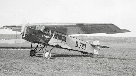 Fokker-Grulich F.II der LUFT HANSA (D 783) in Dübendorf, zwischen 1926 und 1930. (Bild: Swissair, Wikimedia, CC)