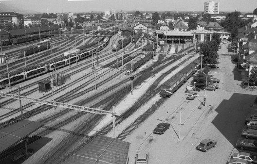 Bahnhof Solothurn und Depot, 1984 (Bild: © Regionalverkehr Bern-Solothurn RBS)