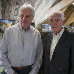 Aldo Guscetti, Architekt (links) und Alberto Guscetti, Ingenieur, nahmen persönlich an der Eröffnung der Ausstellung «Der Traum von Amerika - 50er Jahre Bauten in den Alpen» über ihre vier visionären Bauten in der Leventina im Nidwaldner Museum Salzmagazin teil.