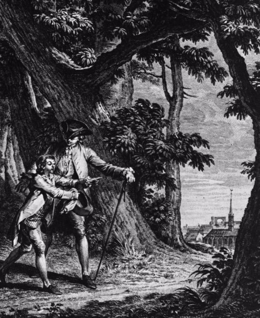 Jean-Jacques Rousseaus 1762 entstandenes Werk «Emile ou de l'éducation» beschreibt die «natürliche» Erziehung eines Knaben zum Bürger. Illustration aus «Emile ou de l'éducation», Jean-Michel Moreau dem Jüngeren zugeschrieben. (Bild: © Schweizerisches Nationalmuseum)