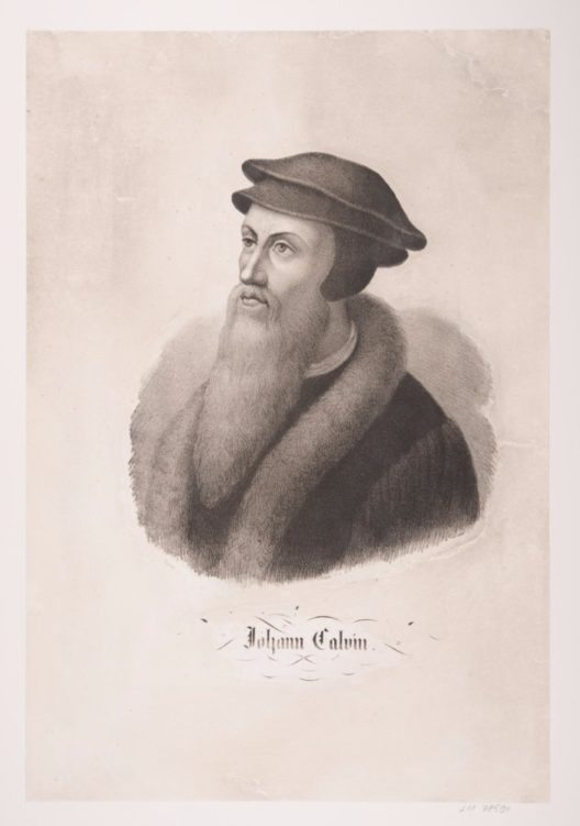 Der Genfer Reformator Jean Calvin (1509 – 1564) schuf mit «Institutio» ein Werk, das weit über den Protestantismus hinaus die Wertevorstellungen künftiger Generationen prägte. Druckgraphik. Porträt Johann Calvin (1509-1564), von Genf. Nach 1800. Fr. Wentzel. (Bild: © Schweizerisches Nationalmuseum)