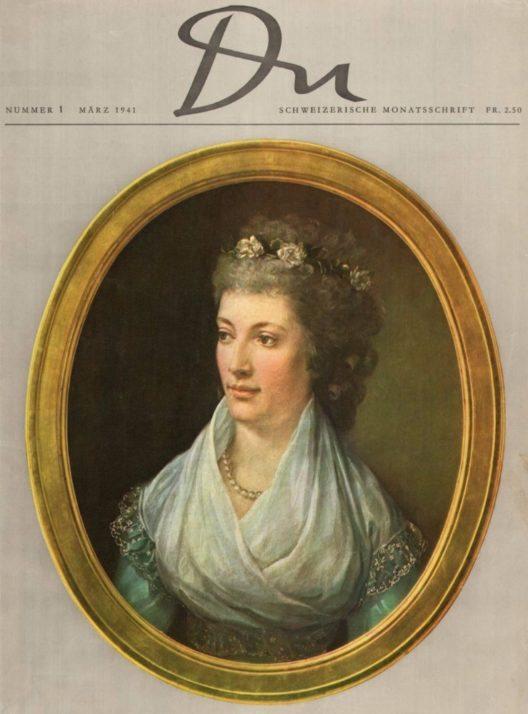 Titelblatt der ersten «du» Ausgabe vom März 1941. (Bild: © Du Kulturmedien AG)