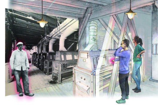 Die historische Industriemühle wird mit Grossbild und Mediaguide neu kontextualisiert und kann auch von Individualbesuchern erkundet werden. (Bild: Museum Mühlerama)