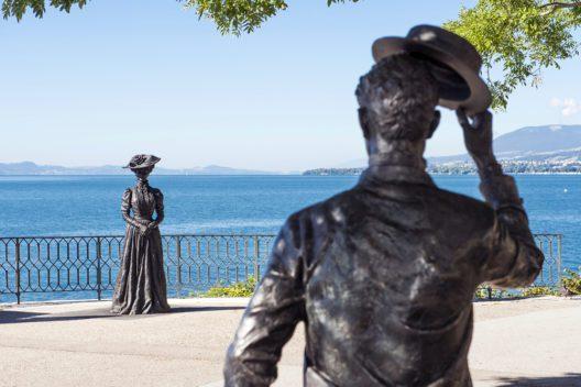 Statuen beim Quai Ostervald (Bild: Stefano Iori)