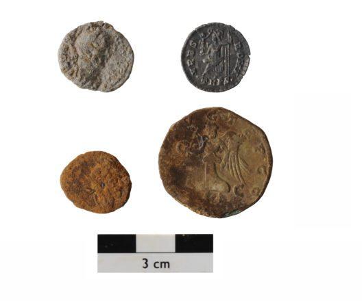 Auswahl römischer Münzen des 1.-4. Jahrhunderts.