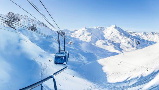 Urdenbahn Arosa/Lenzerheide GR. Die Urdenbahn ist die schnellste Seilbahn der Schweiz. Die stützenlose Pendelbahn und verbindet seit 2014 zwei Skigebiete, ohne neue Skipisten zu erschliessen. (Bild: Ferienregion Lenzerheide)