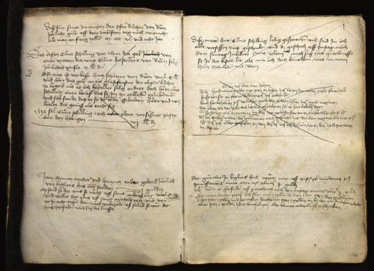 Vinzenzenschuldbuch von 1448, fol. 1r (SAB A 4 1)