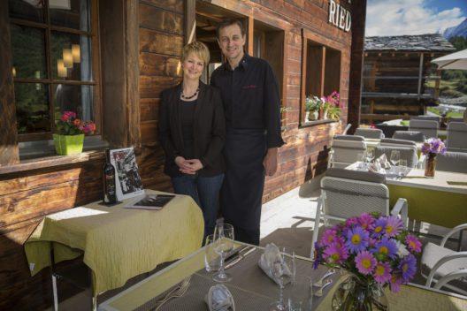 Gastgeberpaar Esther Bellwald & Laurent Hubert